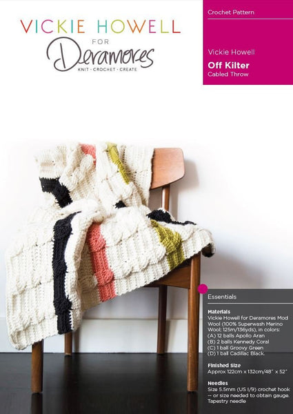 Off Kilter Cable Throw by Vickie Howell - Digital Version