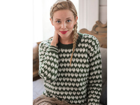 Women's Colourwork Sweater in Novita Nordic Wool