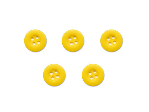 Round Thick Rimmed Buttons - Yellow - 053