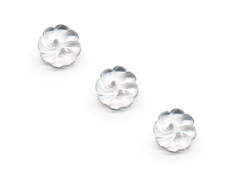 Flower Buttons - Clear - 068