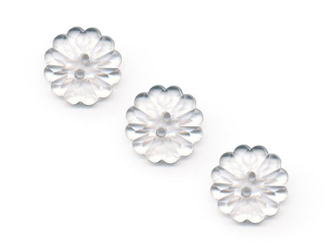 Flower Buttons - Clear - 070