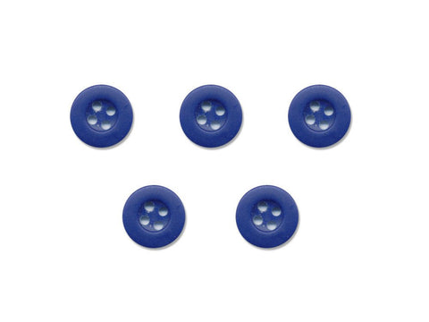 Round Thick Rimmed Buttons - Blue - 174