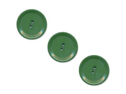 Rimmed Round Buttons - Green - 500