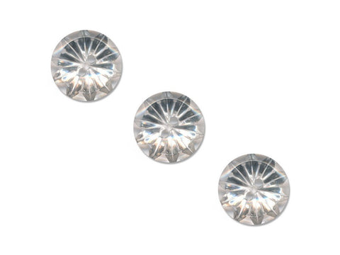 Round Flower Effect Buttons - Clear - 878
