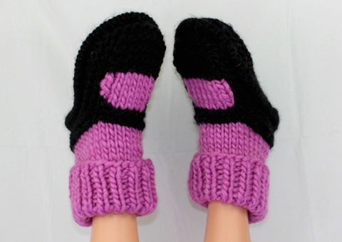 MadMonkeyKnits Adult Superfast Sock Slipper (1030) -  Digital Version