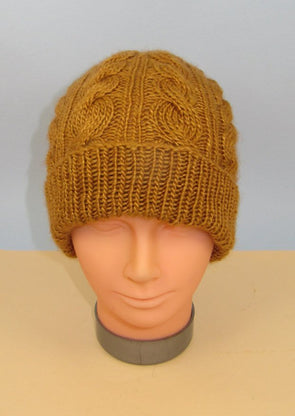 MadMonkeyKnits Alternative Twist Cable Beanie Hat  (1062) - Digital Version