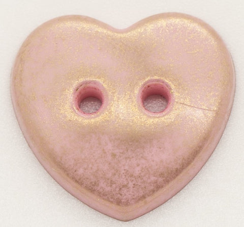 Two Hole Heart Shaped Buttons 20mm