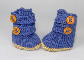 MadMonkeyKnits Baby 2 Strap booties (579) - Digital Version