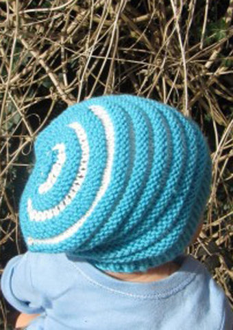 Baby Stripe Slouch Hat by MadMonkeyKnits (527) - Digital Version