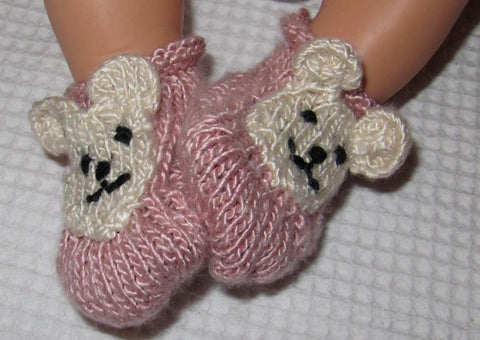 Baby Bear Silk Boots by MadMonkeyKnits (306) - Digital Version