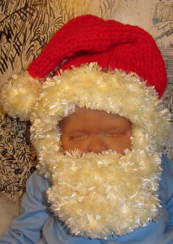 Baby Bearded Santa Superfast Hat by MadMonkeyKnits (63) - Digital Version