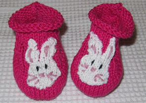 Baby Bunny Boots by MadMonkeyKnits (308) - Digital Version