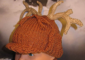 Baby Deer Stalker Beanie by MadMonkeyKnits (70) - Digital Version
