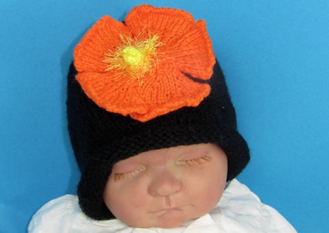 Baby Flower Slouch Hat by MadMonkeyKnits (609) - Digital Version