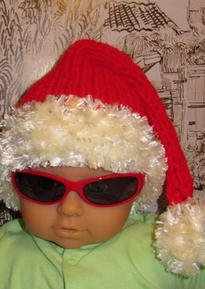 Baby Ho Ho Ho Superfast Santa Hat by MadMonkeyKnits (62) - Digital Version