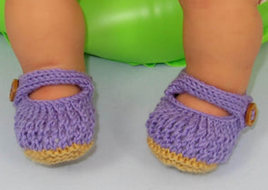 Baby Lacey Sandals by MadMonkeyKnits (587) - Digital Version
