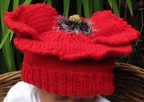 Baby Poppy Beanie Hat by MadMonkeyKnits (22) - Digital Version