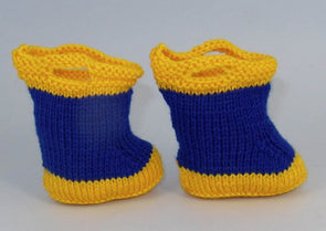 Baby Pull On Wellies by MadMonkeyKnits (576) - Digital Version
