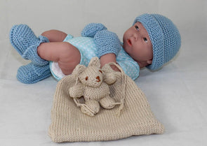 Baby Shower Gift Bag Knitting Pattern by MadMonkeyKnits (1050) - Digital Version