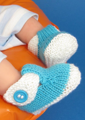 Baby T Bar 2 Colour Sandals by MadMonkeyKnits (592) - Digital Version