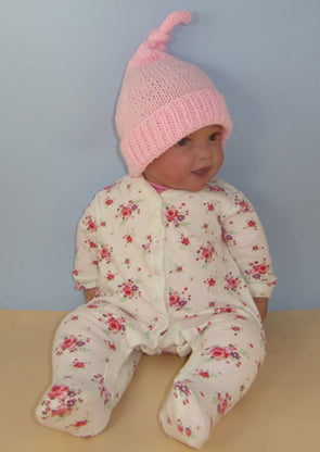 Baby Topknot Pixie Hat by MadMonkeyKnits (846) - Digital Version