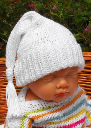 Baby Wee Willie Winkie Nightcap by MadMonkeyKnits (23) - Digital Version