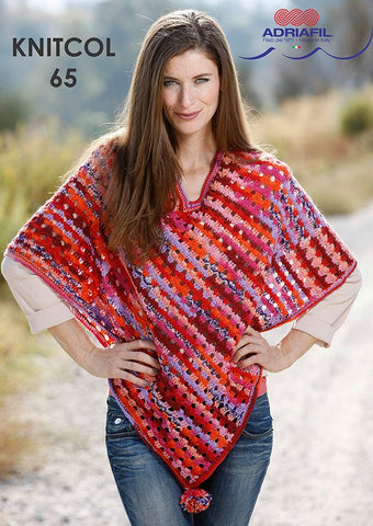 Bach Poncho in Adriafil Knitcol - Digital Version