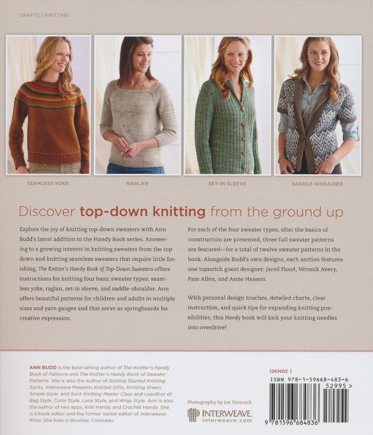 85283da8661f The Knitter s Handy Book of Top-Down Sweaters – Deramores Australia