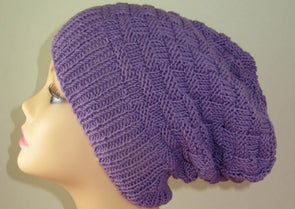 Basket Weave Spring Slouch Hat by MadMonkeyKnits (780) - Digital Version