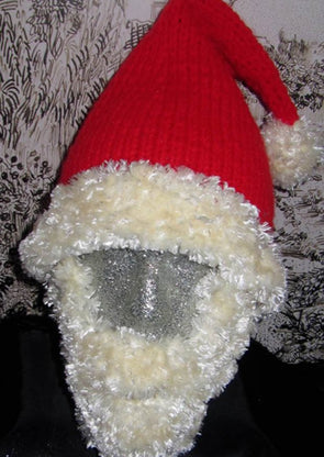 Bearded Santa Superfast Hat by MadMonkeyKnits (107) - Digital Version