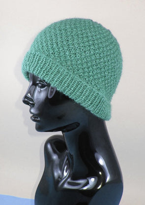 Double Moss Stitch Beanie by MadMonkeyKnits (973) - Digital Version