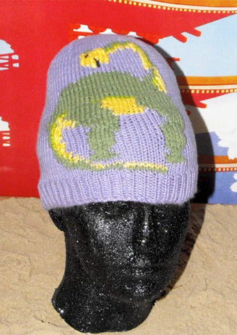 Brian the Brontosaurus Beanie Hat by MadMonkeyKnits (10) - Digital Version