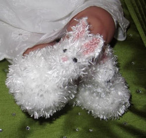 Baby Fluffy Bunny Boots by MadMonkeyKnits (321) - Digital Version