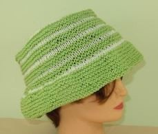 Baby and Chile Stripey Bucket Hat by MadMonkeyKnits (887) - Digital Version