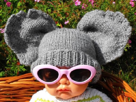 Baby Big Ears Hat by MadMonkeyKnits (002) - Digital Version