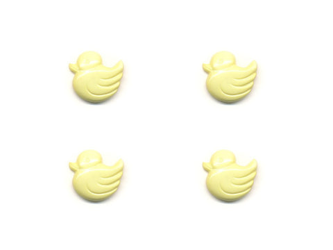 Duck Shaped Buttons - Yellow - 056