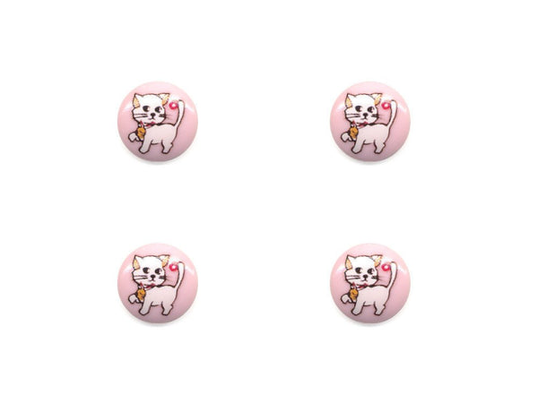 Round Novelty Buttons - Cat - 085