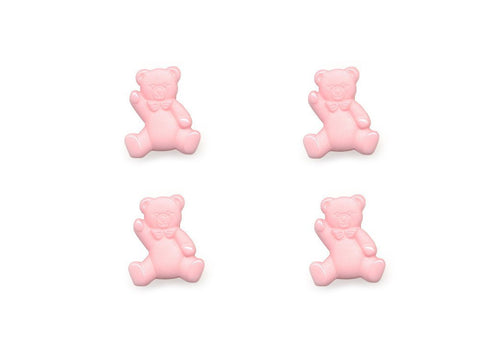 Teddy Bear Shaped Buttons - Pink - 048