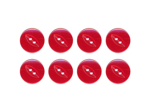 Fish-Eye Buttons - Red - 100