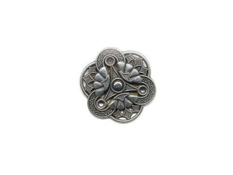 Metal Textured Design Buttons - Silver - 1014