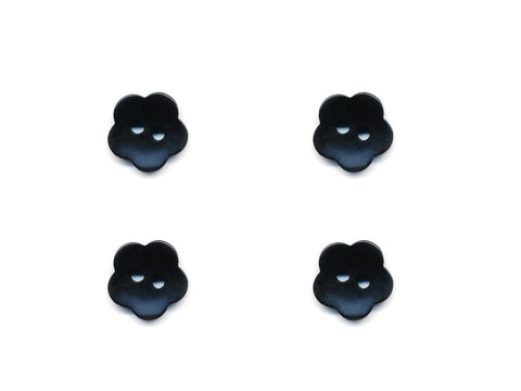 Flower Buttons - Black - 1016