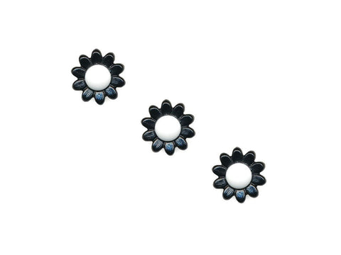 Flower Buttons - Black & White - 1023