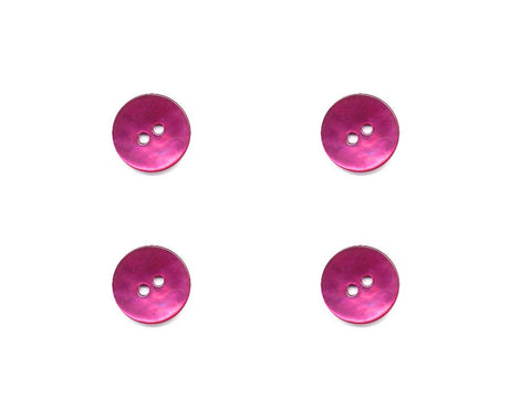 Round Shell Effect Buttons - Pink - 1098