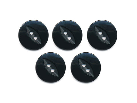 Fish-Eye Buttons - Black - 199