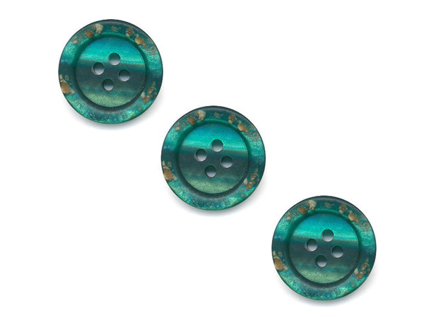 Rimmed Broken Paint Effect Buttons - Green - 224