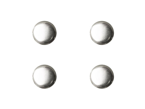 Round Metal Buttons - Silver - 271