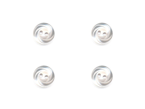 Translucent Swirl Effect Buttons - Clear - 288
