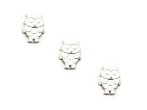 Owl Shaped Buttons - White - 297