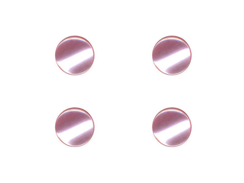 Round Pearl Effect Buttons - Pink - 363