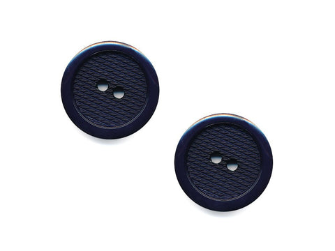Round Plastic Textured  Button - Blue - 462